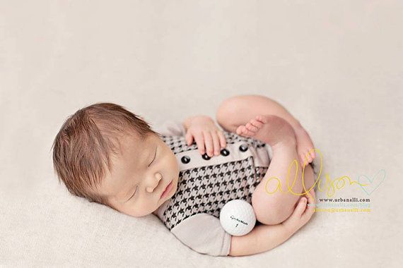 newborn boy romper Jager  photography prop  by adorableprops