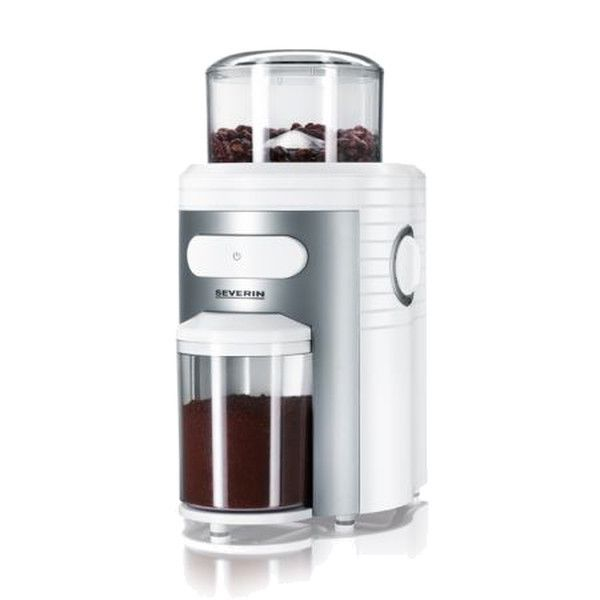 Severin Conical Burr Electric Coffee Grinder The Severin Coffee Grinder features conical steel burrs which provide a much more consistent grind than any blade grinder ever could. It has 10 different grind settings, the coarsest of which are great for french press and the finest of which approaches an espresso grind. In between, you have a range of options allowing you to use this grinder for Aeropress, pour-over coffee makers and pretty much any other manual brew method.