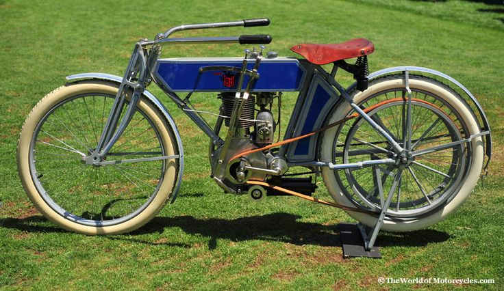 1912 Black Hawk BH Antique Motorcycle Designed by George H. Meiser, manufactured from 1911 to 1912 in Rock Island, Illinois Owner: AMCA President Peter Gagan