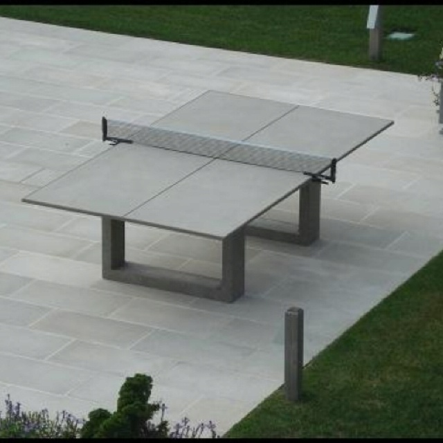 Concrete Ping Pong Table That Doubles As An Outdoor Dining Table. Perfect  For Our Backyard