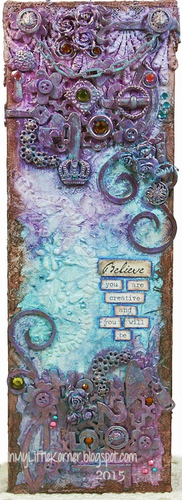 Mixed Media - Believe Canvas...