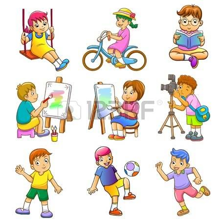 Image Result For Hobbies Clipart Kids Vector Person Cartoon Dogs And Kids