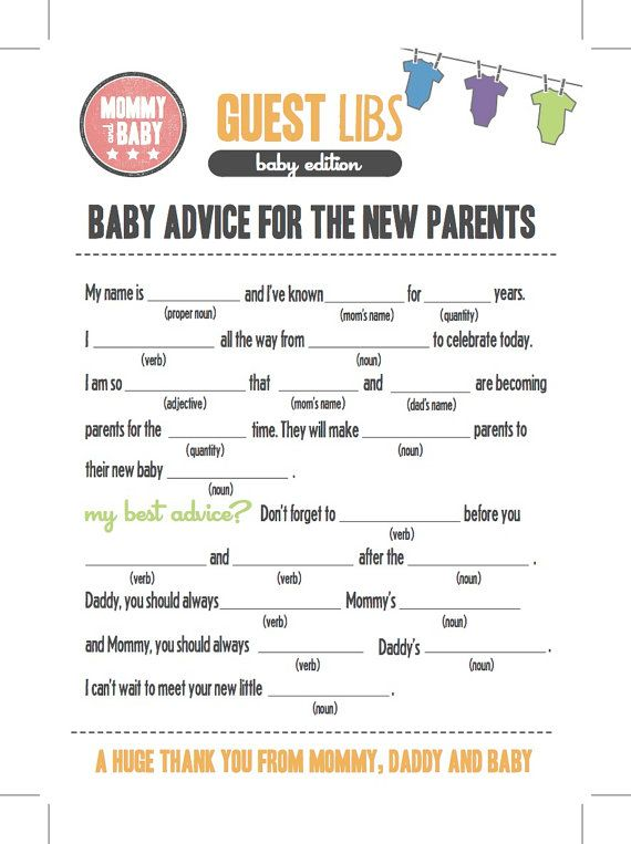 SUMMER SALE   Baby Shower Onesies Mad Libs Cards   Mad Libs Card, Shower  Game