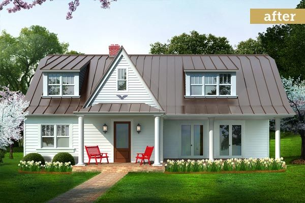 74 best images about metal roofs on pinterest roofing for Farmhouse metal roof
