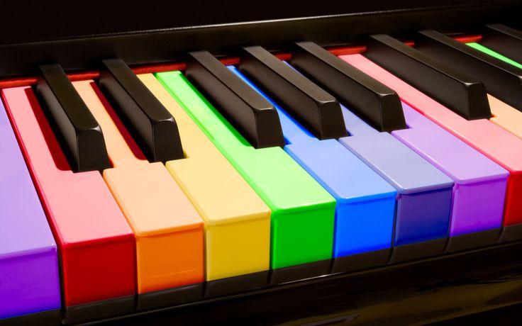 colorful piano keys wallpaper desktop wallpaper pinterest