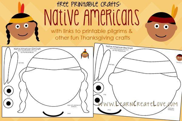 Printable Native American Crafts   LearnCreateLove.com