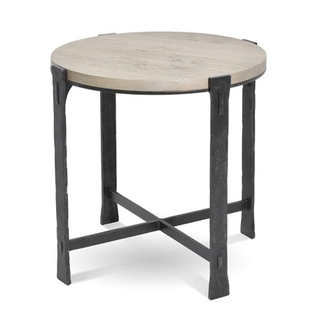 Woodland Round End Table By Charleston Forge. We Are A 30 Year Old Family  Owned Maker Of Exquisite Quality Hand Forged Furniture.