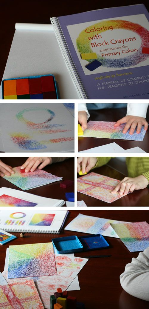 colouring with block crayons