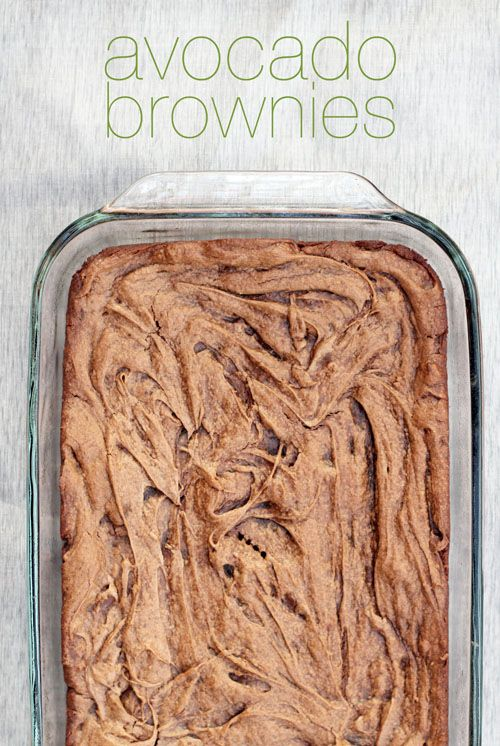 Add a bit of healthy eating to dessert time with avocado brownies