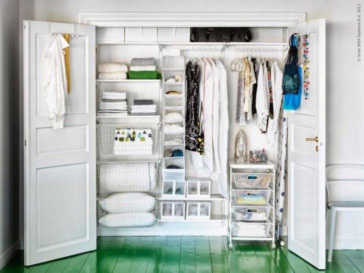 minimalist dressing room with wardrobe closet ikea algot ideas white wooden shelves rack closet ikea