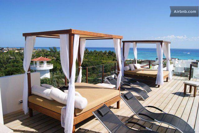 Ocean View Condo/Roof Pool/WiFi/Gym in Playa del Carmen