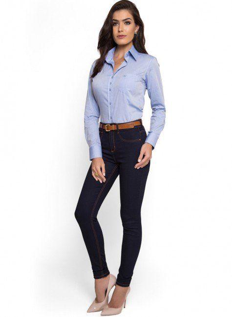 9b84dce55 camisa social feminina com bolso principessa thaiza look compre completo