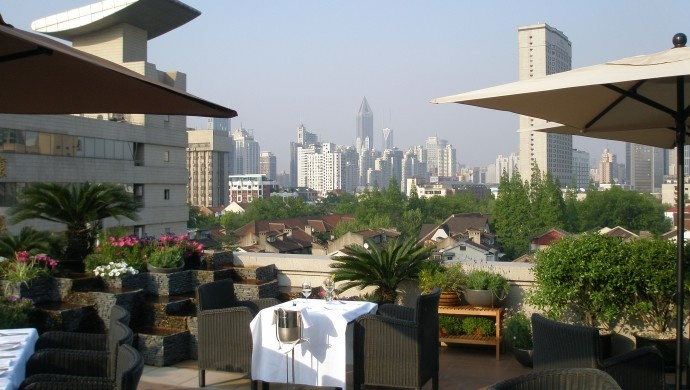 Mansion Hotel, Shanghai: Mansion Veranda restaurant offers Italian-inspired fare and great views on the hotel's rooftop.