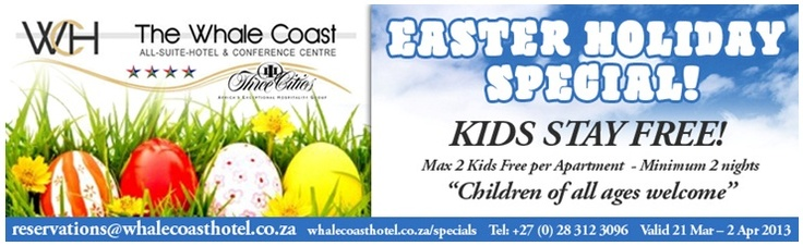 Easter Holiday Special @ Whale Coast Hotel, Hermanus.