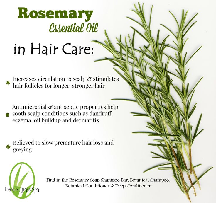 Rosemary Essential Oil in Lemongrass Spa hair care