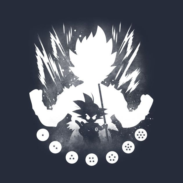 BIG GOKU; LITTLE GOKU - WHITE DESIGN