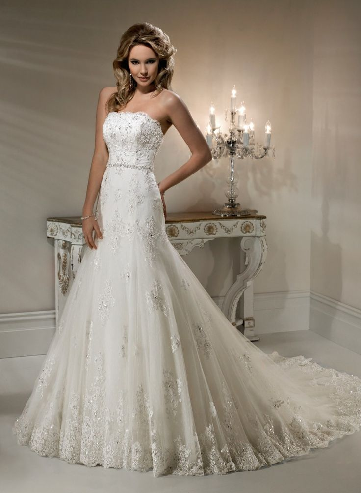 A Line And Ball Gown Lace Wedding Dress