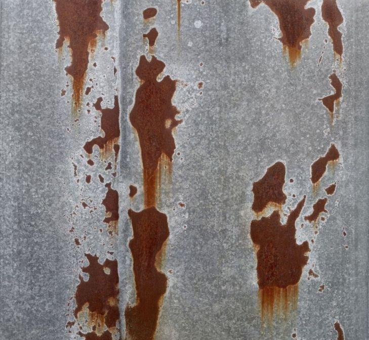 #Texture #galvanized with #spots and #streaks of #rust. Текстура большого размера 8153 х 7529 px оцинковка с пятнами и потёками ржавчины. Фотография ржавого железа в высоком разрешении.