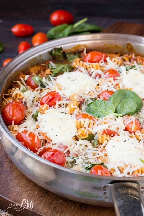 One Pan Spinach Cheese and Fire Roasted Tomato Pasta One Pan Spinach Cheese and Fire Roasted Tomato Pasta is full of tomato, spinach and cheese. This pasta recipe is made on the stove-top in just o... http://livedan330.com/2015/10/26/one-pan-spinach-cheese-fire-roasted-tomato-pasta/