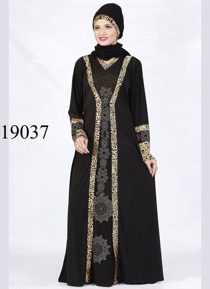 Vintage Kaftan Abaya Islamic Muslim Cocktail Long Maxi Dress V ABY 19037.