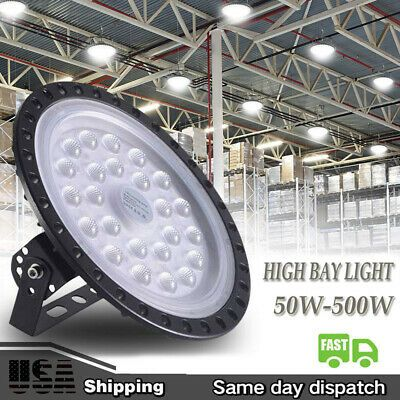 3PCS 300W UFO LED High Bay Lights Ultra-thin Warehouse Factory Industrial Lamp
