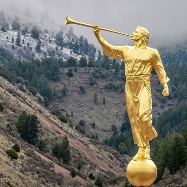 Angel Moroni on the Star Valley Temple