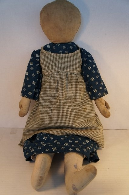 """24"""" antique rag doll great hands and feet 1890"""