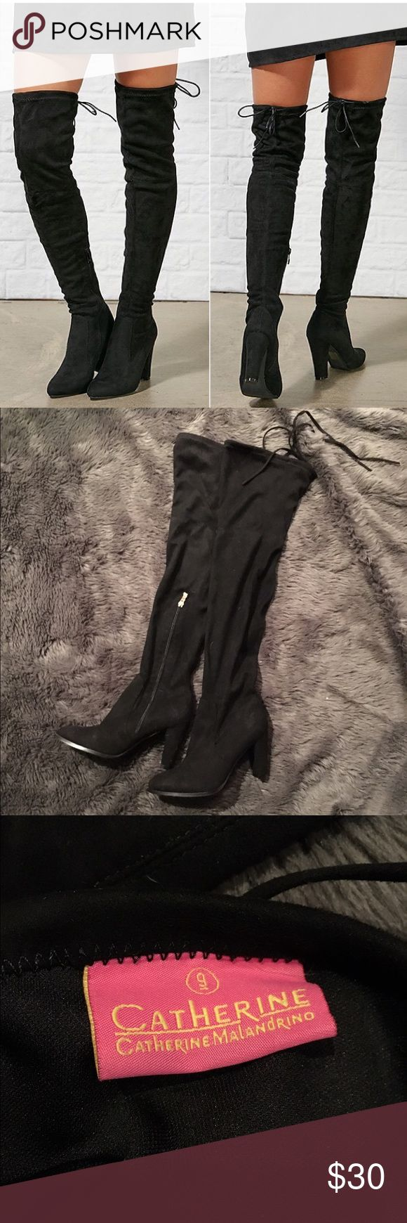 Catherine Malandrino Thigh High Boots Super cute catherine malandrino thigh high boots from Nordstrom! Worn once. Size 9. Perfect for winter chic. Catherine Malandrino Shoes Over the Knee Boots