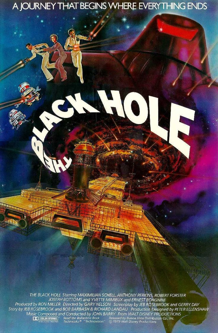 THE BLACK HOLE.  Journey into the realm of overacting and count the visible wires during the zero gravity scenes