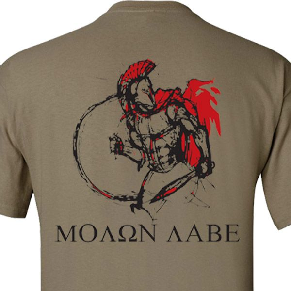 """Molon Labe"" or ""Come and take them"" - What King Leonidas said to Xerxes I of Persia when he demanded that they give up their arms at the Battle of Thermopylae (480 BC)."