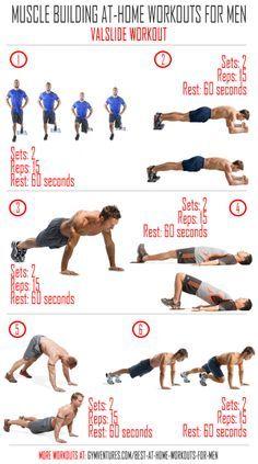 Effective At Home Workouts For Men Valslide Workout