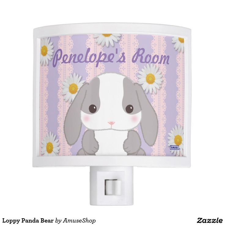Loppy Panda Bear Night Light #lámpara #lamps