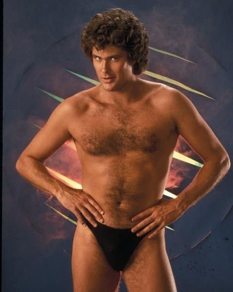 David Hasslehoff doesn't wear much when he goes to parties!