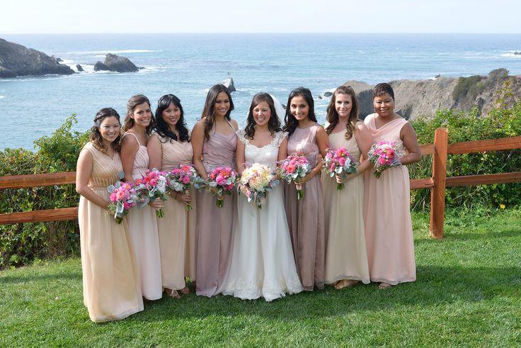 Beautiful bridesmaids at Albion River Inn.