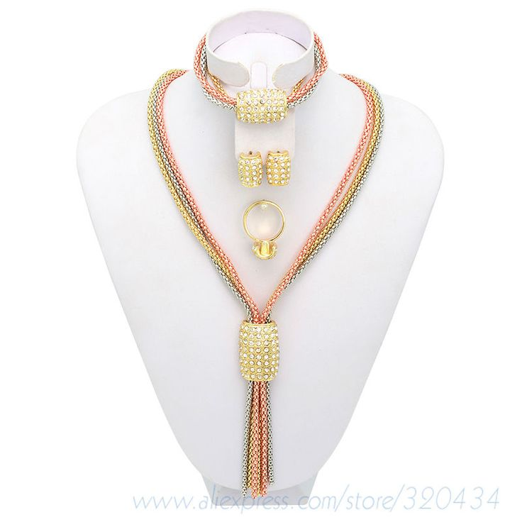 Find More Jewelry Sets Information about 2014 Newest Arrival Fashion African Jewelry Set/ Delicate Alloy Wedding Vertical String Rhinestone Necklace Women Jewelry Set,High Quality Jewelry Sets from YH Jewelry on Aliexpress.com