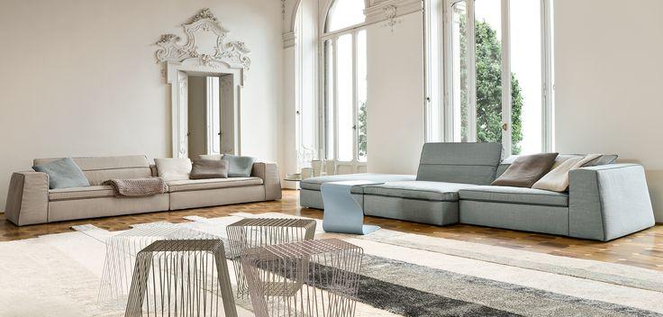 sofa - Bonaldo Good mood | handle table - Bonaldo Duffy