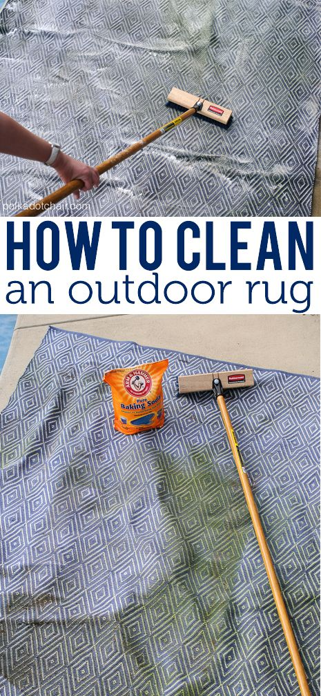 How to Clean an Outdoor Rug on polkadotchair.com