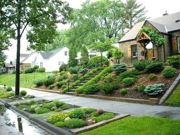 Spacious Steep Slope Landscaping Steps On A Hillside Landscape Backyard Hill Landscaping Sloped Backyard Small Front Yard Landscaping