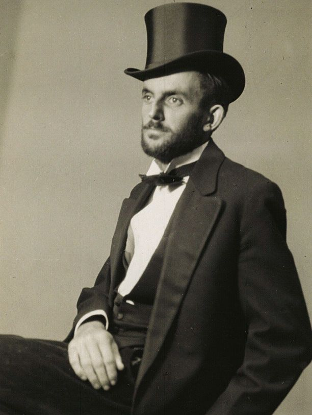 Ansel Adams, Self-Portrait ca 1930 American Photographer of the Landscape working with high contrast in black and white, highlights and dark shadows at odd angles. His works are probably the most valued photographs in America today. He made photography an art form.
