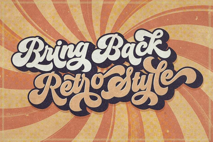 Groovy Retro Font 61256 Script Font Bundles Retro Font Retro Typography Retro Graphic Design