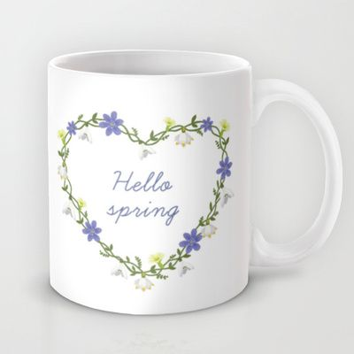 Hello spring Mug by Babiole Design - $15.00