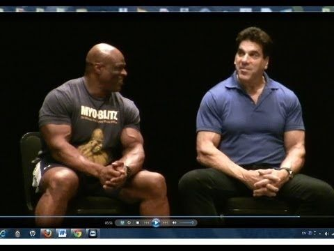 Legends Seminar at The 2012 Master Mr Olympia Ronnie Coleman Dorian Yates Lee Haney Linda Murray