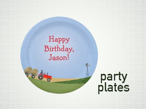 Tractor Party Supplies Red Tractor Party Plate -- Tractorama.us  sc 1 st  Pinterest & 16 best Tractor Party Supplies images on Pinterest | Party supplies ...
