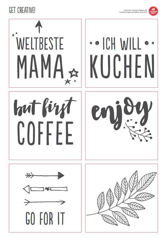 Tassen selbst gestalten Tassen selbst bemalen Tassen beschriften Sprüche Vorlage gratis download