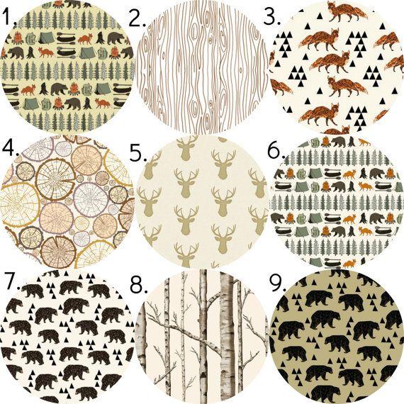 Woodland Bedding Set, 3 Piece Set, Crib Sheet, Crib Skirt, Bumper, Changing Pad Cover, Baby Blanket, Boppy Cover, Rustic Hunting Boy Nursery...