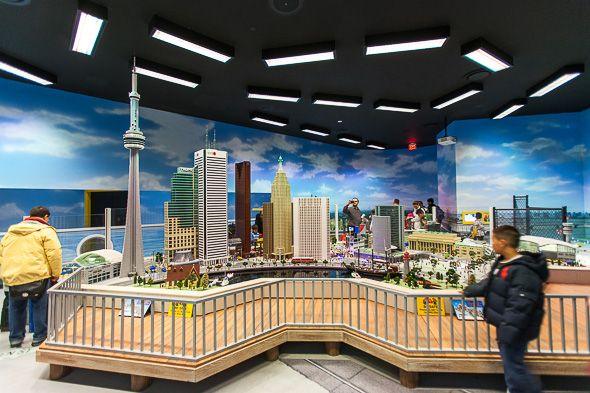 LEGOLAND Toronto (Vaughan), has a very cool Miniland of Toronto, including icons such as the CN Tower and First Canadian Place.