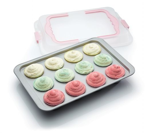 Kitchen Craft Non-Stick 12 Cup Bake and Carry Tray