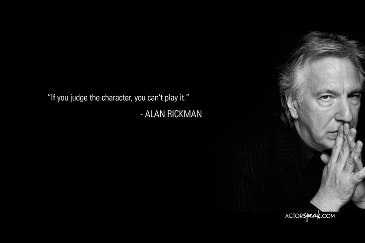 """If you judge the characters, you can't play them.""    I love him!!!"