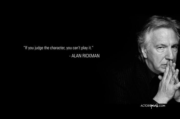 Alan Rickman quote on acting