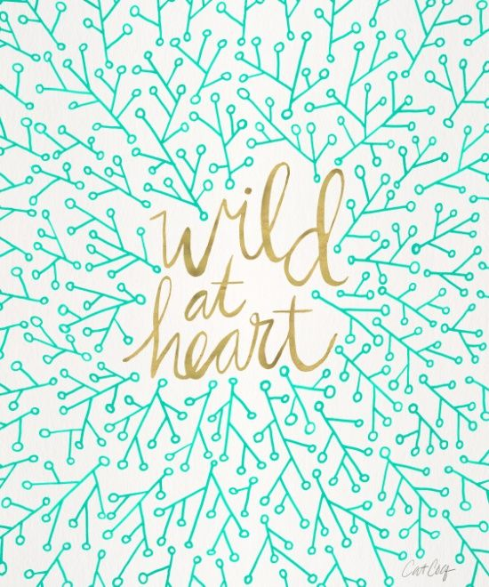 Wild at Heart – Turquoise & Gold Art Print